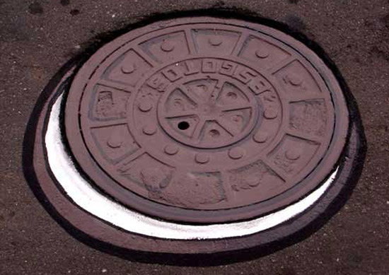 Cookie made of sewer.